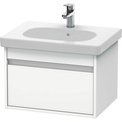 Set mobilier Duravit Ketho cu lavoar 65cm, dulap baza D-Code 60cm, alb mat