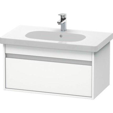Set mobilier Duravit Ketho cu lavoar 85 cm, dulap baza D-Code 80cm, alb mat