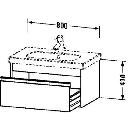 Set mobilier Duravit Ketho cu lavoar 85 cm, dulap baza D-Code 80cm, alb lucios