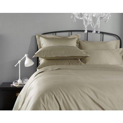 Lenjerie de pat Behrens Hotel Living 1000TC 230x220cm, 2 fete perna 50x75cm, Flax