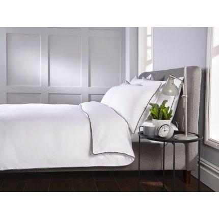 Lenjerie de pat Behrens Heritage 230x220cm, 2 fete perna 50x75cm, White-Grey