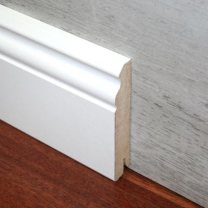 Plinta din MDF Egger Hamburg 70mm, 2.4m lungime, alb