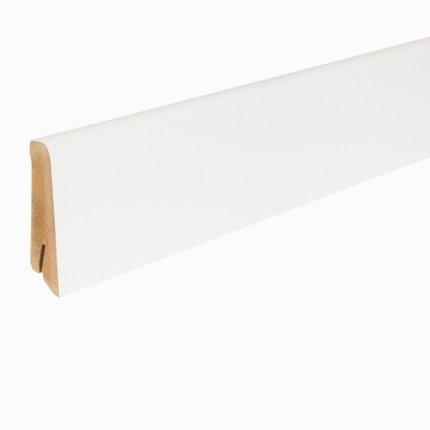 Plinta din MDF Egger 80mm, 2.4m lungime, alb