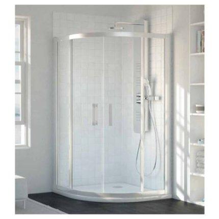 Cabina de dus semirotunda Ideal Standard Synergy 90x90cm tratata anticalcar Ideal Clean