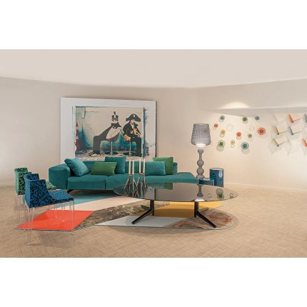 Perna pentru canapea Kartell Velvet design Piero Lissoni, 48x35cm, 53 turcoaz