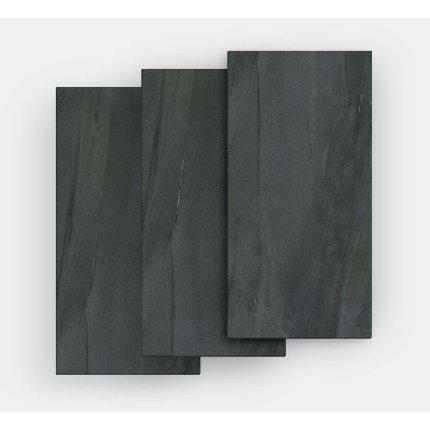 Gresie portelanata FMG Pietre Maxfine 100x100cm, 6mm, Lavica Black Naturale