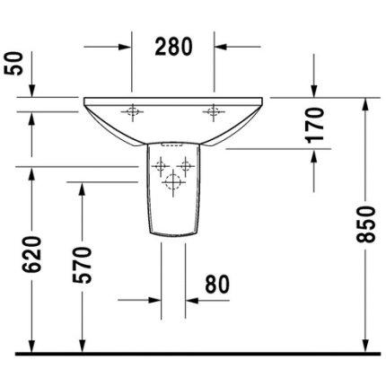 Lavoar Duravit Caro 60cm