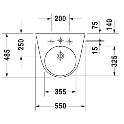 Lavoar Duravit Starck 2 55cm