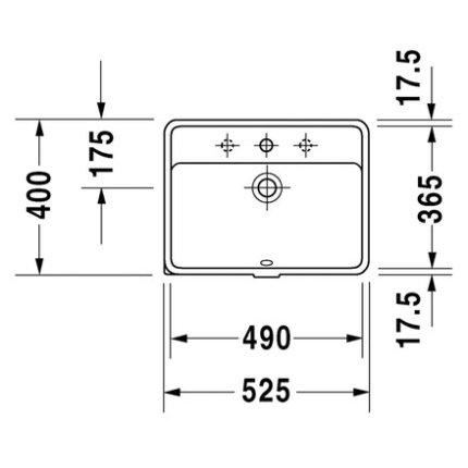 Lavoar Duravit Starck 3 49cm, montare in blat