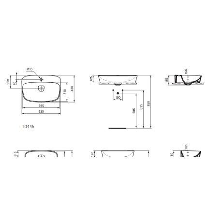 Lavoar Ideal Standard Vessel Dea 62x43cm