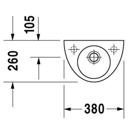 Lavoar Duravit Starck 2 38cm