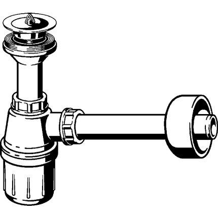 """Sifon pentru lavoar Viega 32mm, ventil metalic 1 1/4"""" cu dop"""
