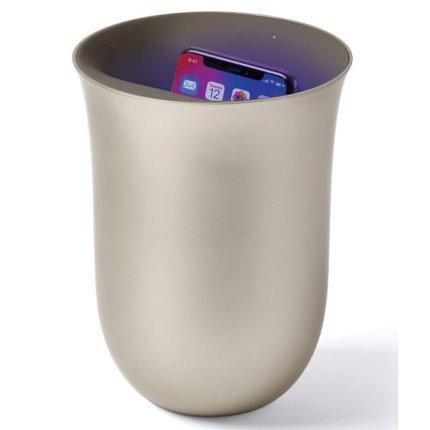 Lexon Oblio statie dezinfectare & incarcare wireless pentru telefoane, auriu