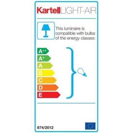 Veioza Kartell Light Air design Eugeni Quitllet, 32x17x14cm, transparent