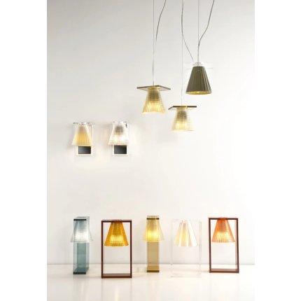 Veioza Kartell Light Air design Eugeni Quitllet, 32x17x14cm, ambra