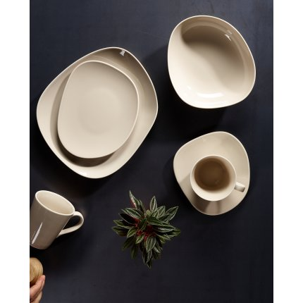 Set servire like. by Villeroy & Boch Organic Taupe Starter Set 12 piese