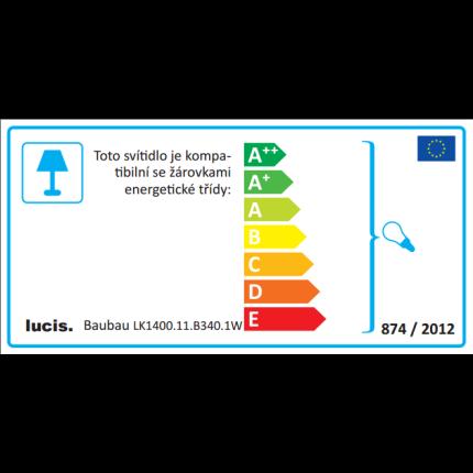 Lampadar Lucis Baubau 1x75W, E27, 140cm, alb