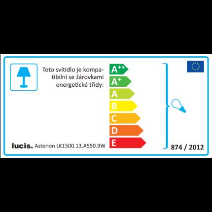 Lampadar Lucis Asterion 3x75W, E27, 150x55cm, alb