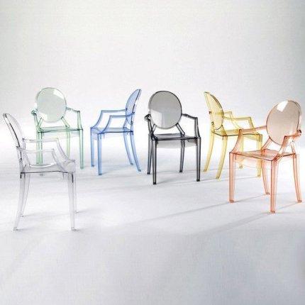 Scaun Kartell Louis Ghost design Philippe Starck, verde transparent