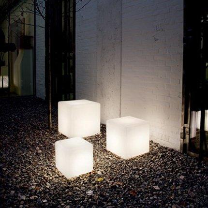Lampa de exterior Ideal Lux Luna PT1 D30, 1x60W, 30x30x30cm, alb