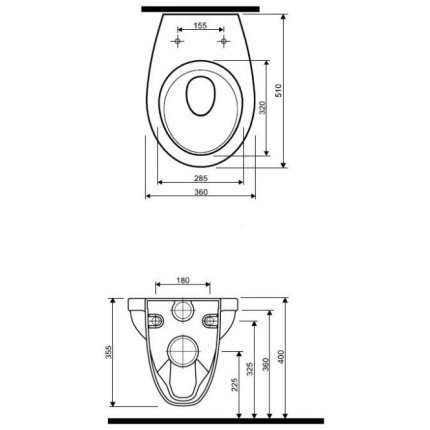 Vas WC suspendat Kolo Idol