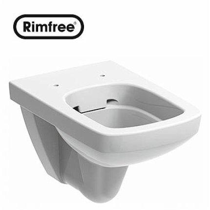 Set vas WC suspendat Kolo Nova PRO Rimfree M33123 cu rezervor si cadru incastrat Kolo Slim 2