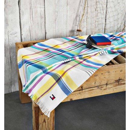 Prosop de plaja Fouta Tommy Hilfiger Madras 90x170cm, Multicolor