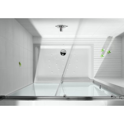 Cadita de dus Roca In-floor 100x80x2.5 cm, Superslim, otel