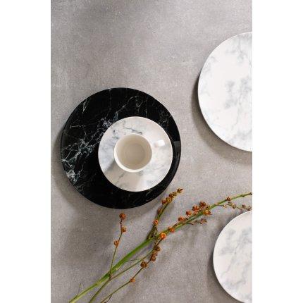 Farfuriuta pentru ceasca de cafea Villeroy & Boch Marmory Black 16cm