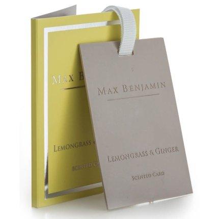 Card parfumat Max Benjamin Classic Lemongrass & Ginger