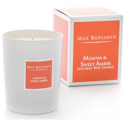 Lumanare parfumata Max Benjamin Classic Mimosa & Sweet Amber 190g