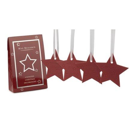 Set 4 carduri parfumate Max Benjamin Christmas Star