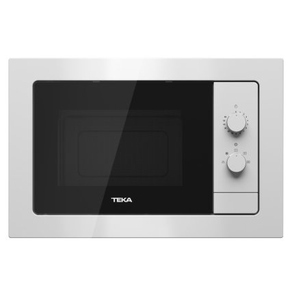 Cuptor cu microunde incorporabil Teka MB 620 BI 20 litri, 700W, interior inox, alb