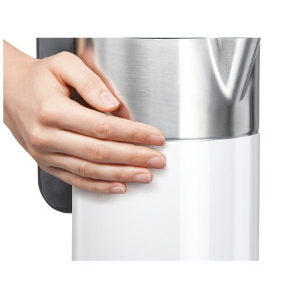 Fierbator Bosch TWK8611P Styline 1.5 litri, 2400W, baza detasabila, alb-antracit