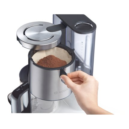 Cafetiera Bosch TKA8631 10-15 cesti, 1.25 litri,  1160W, DualHeating, argintiu