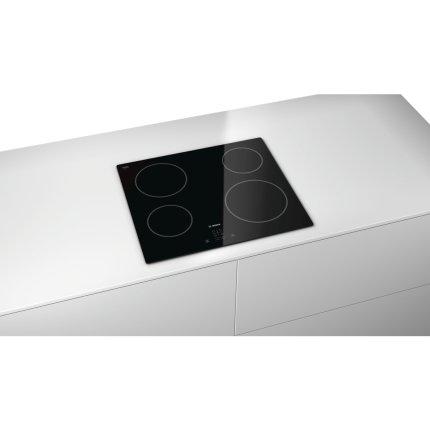 Plita vitroceramica incorporabila Bosch PKE611D17E 4 zone HighSpeed, 60 cm, negru