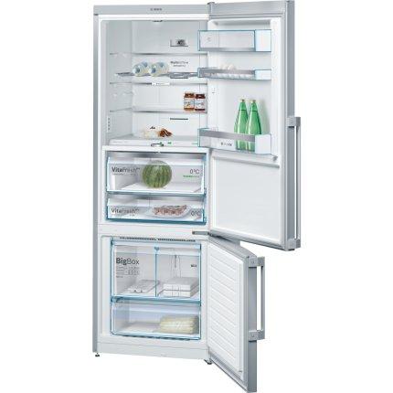 Combina frigorifica Bosch KGF56PI40 Serie 8, Home Connect Ready, Clasa A+++, 480 litri, NoFrost, Multi Airflow, AirFreshFilter, FreshSense, usi inox easyClean