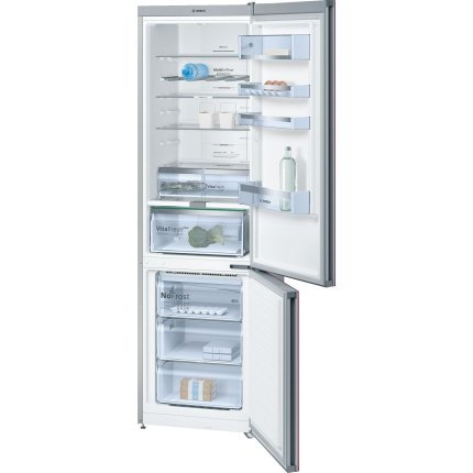 Combina frigorifica Bosch KGN39LR35 Serie 6, Home Connect Ready, 366 litri, NoFrost, Multi Airflow, AirFreshFilter, FreshSense, Clasa A++, usi sticla rosie
