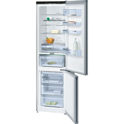 Combina frigorifica Bosch KGN39LM35 Serie 6, Home Connect Ready, 366 litri, NoFrost, Multi Airflow, AirFreshFilter, FreshSense, Clasa A++, inox