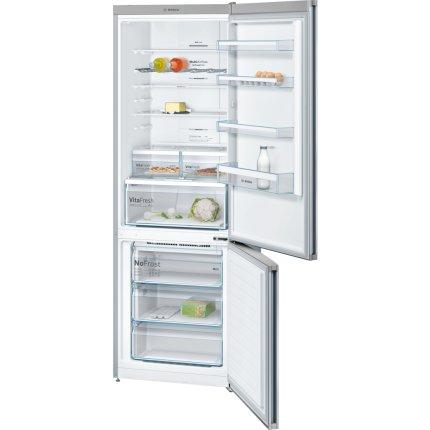 Combina frigorifica Bosch KGN49XI30 Serie 4, 435 litri, NoFrost, Multi Airflow, FreshSense, Clasa A++, inox easyClean
