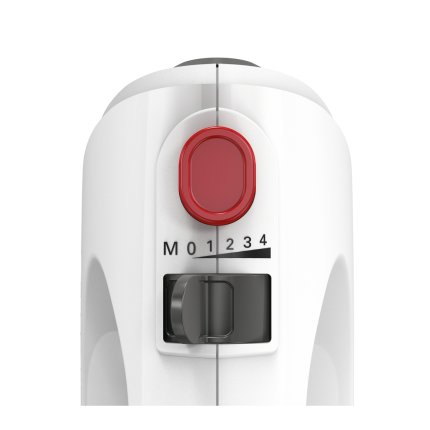 Mixer de mana Bosch MFQ22100 CleverMixx 375W, 4 viteze + Turbo, motor DC, alb