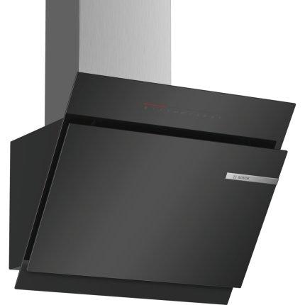 Hota decorativa Bosch DWK67JQ60 Serie 6, 60 cm, 730 mc/h intensiv, sticla neagra