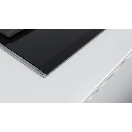 Plita gaz incorporabila Bosch PRP6A6N70 Seria 8, vitroceramica, 4 arzatoare, 60cm, gratare fonta, negru