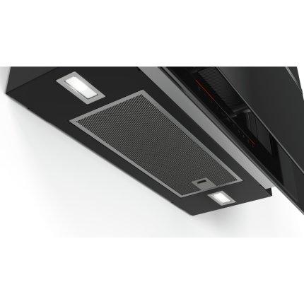 Hota decorativa Bosch DWF97KQ60 Serie 6, 90 cm, 730 mc/h intensiv, doua motoare EcoSilence Drive, sticla neagra