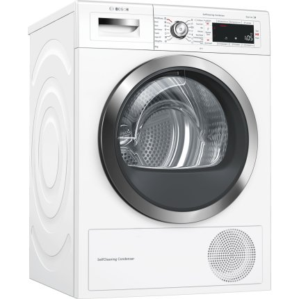 Uscator de rufe Bosch WTW855H0BY Seria 8, Home Connect, SelfCleaning, 9kg, Clasa A++
