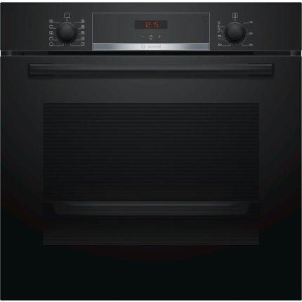 Cuptor electric incorporabil Bosch HBA554EB0 Serie 4, multifunctional 7 functii, 71 litri, EcoClean Direct, negru