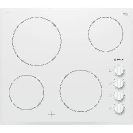 Plita vitroceramica incorporabila Bosch PKE652CA1E Serie 2, U-facette, 60cm, 4 zone, alb