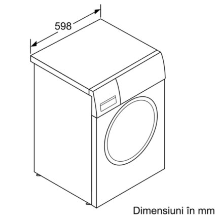 Masina de spalat rufe Bosch WAW28740EU Serie 8, 9kg, 1400rpm, Clasa A+++, ActiveOxygen, EcoSilence Drive