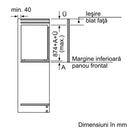 Frigider cu o usa incorporabil Bosch KIR21AF30 SmartCool Serie 6, 144 litri, FreshSense, clasa A++
