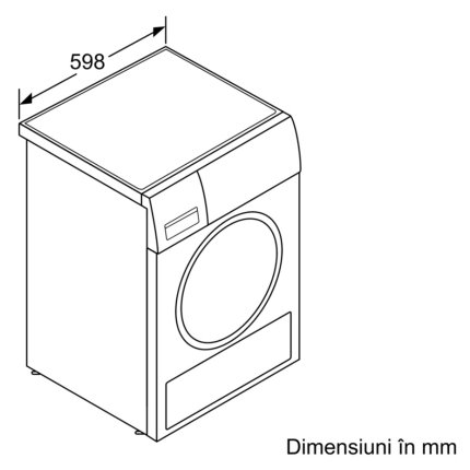 Uscator de rufe Bosch WTW85540EU Serie 8 cu condensare si pompa de caldura, 9kg, Clasa A++, ActiveSteam